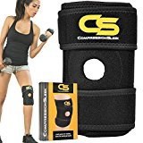 Top Knee Brace Support for Basketball, ACL, Sports, Perfect for Healing, Runners Knee, Arthritis, Meniscus, Best Open Patella Stabilizer with Breathable Neoprene Straps