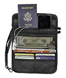 Travel Wallet Black Safe Hidden Credit Card Pocket Passport Holder and Id Pouch