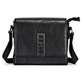 ULG Women's PU Leather Classic Envelope Small Crossbody Shoulder Messenger Cell Phone Wallet Purse Bag Black
