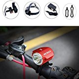 Ultra bright 3 Modes A12 Bikelight High Power XML U2 LED Cycling Front Bicycle Bike light Headlight Bicycle Camping Headlight with Rechargeable Battery Pack and Charger