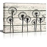 Wall26 - Dandelions in Field Artwork - Rustic Canvas Wall Art Home Decor - 24x36 inches