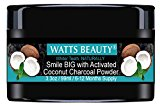 Watts Beauty Activated Coconut Charcoal Powder for Whiter Teeth Without Sensitivity - All Natural Teeth Whitening Charcoal for a Brighter Smile, Naturally - Large 3.3oz