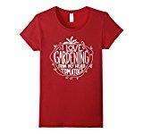 Women's I love Gardening From My Head Tomatoes - Garden T-Shirt Medium Cranberry