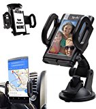 Xplore 4-in-1 Windshield / Dashboard / Air Vent Universal Car Phone Mount Holder