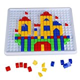 Yixin 420 Pieces Mosaic Puzzle Intellect Toy Pegboard Jigsaw Puzzle Block Building Game for Kids Kindergarten Educational Toys for Kids over 3 Years Old