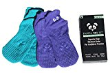 Yoga Pilates Barre Non-Slip No Skid Socks With Grips for Class Home [2 Pack Seascape / Turquoise]