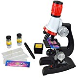 Yoptote Science Microscope Kit for Children 100x 400x 1200x Refined Scientific Instruments Toy Set for Early Education