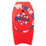 Younger 37 inch Super Bodyboard with IXPE deck, Perfect surfing, Red