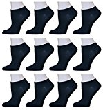 Yung & Phree Womens Low Cut Socks Casual Fun Fashion Patterns - 12 Pair Black,Sock Size: 9-11 Fits Shoe: 4-10