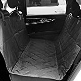 aLLreLi Pet Car Seat Cover Hammock for Cars, Trucks, and Suv's - Black, WaterProof & NonSlip Backing