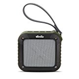 allimity Portable Wireless Bluetooth Speaker, Waterproof( IPX6) With 12 Hours Play & 33FT Range-3.5mm Audio Cable, Compatible with All Bluetooth Devices(Army Green)