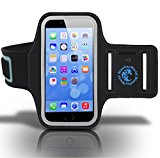 iPhone 6/6s/7/7s Armband for Running, Biking, Walking, Jogging, Gym and Other Workouts - Superb Comfort, Sublime Fit, Very Durable Sports Case from Blue Key World - Enhance Your Exercise Experience!