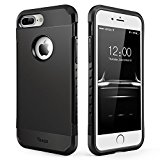 iPhone 7 Plus Case, Slim Anti-Scratch Protective Case Cover Shockproof Heavy Duty Dual layer Rugged Case Non-slip Grip Protection Cover for iPhone 7 Plus-Black