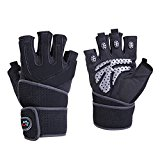 nellu weight lifting gloves,Black,Medium