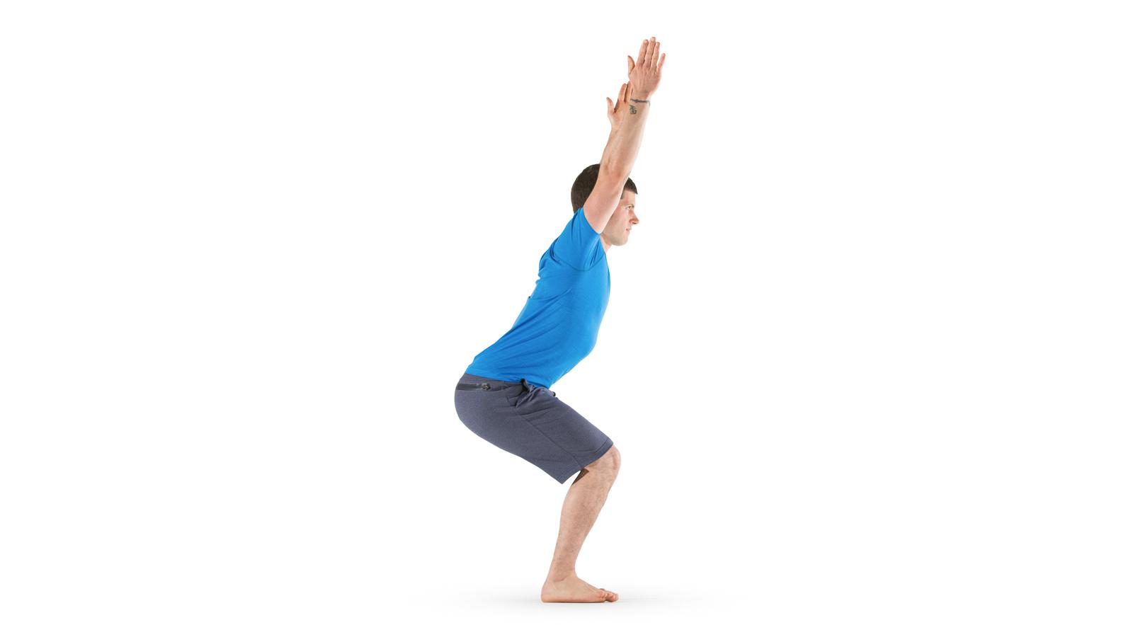 chair pose fierce pose yoga international
