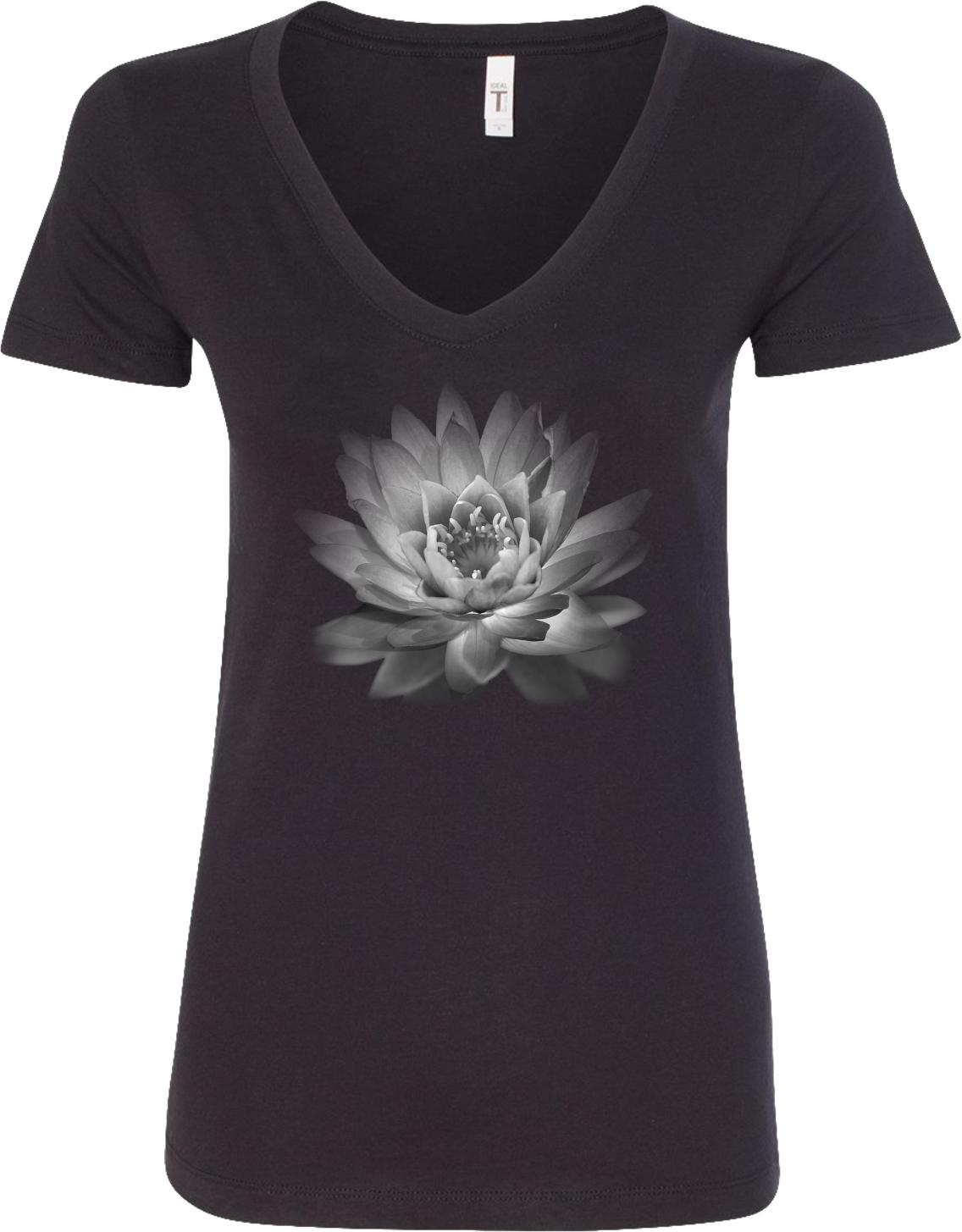 Yoga Clothing For You Lotus Flower Ideal V Neck Yoga Tee Shirt Ebay