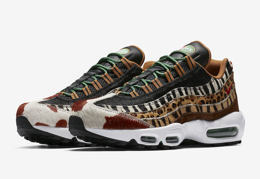 """the best attitude 91ef4 80d07 Look out for the atmos x Nike Air Max 95 DLX """"Animal Pack 2.0"""" to release  on Saturday, 07 April 2018 at:"""