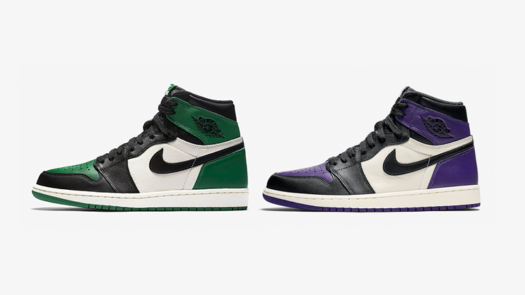 "3ac79887302 Jordan Brand will be releasing two Air Jordan 1's, one beautified in ""Pine  Green"" and the other one in ""Court Purple,"" and without a doubt both of  them are ..."