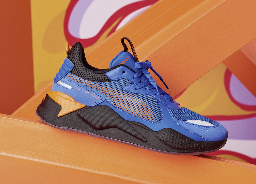 This flaming PUMA and Hot Wheels RS X Pack drops this