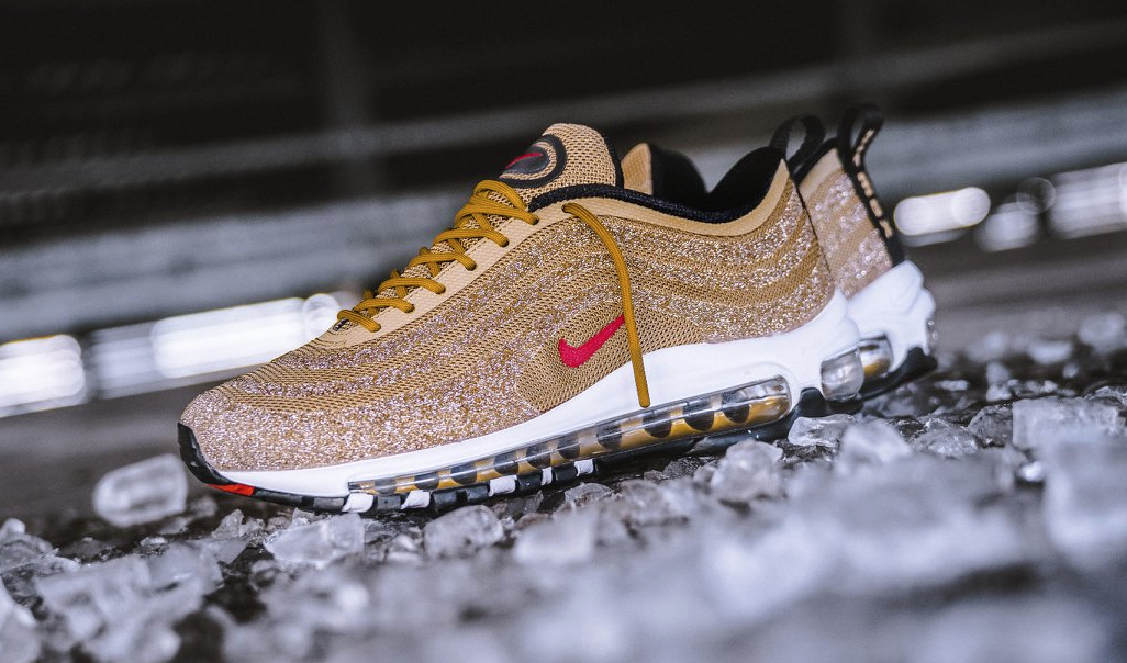 d75e15d2781 The upper of this Nike Air Max 97 LX is made with Swarovski s ...