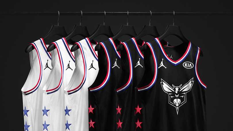 1c35488e197 Host city Charlotte and the memorable 1991 NBA All-Star Game provided  inspiration for the 2019 Jordan Brand NBA All-Star Edition uniform.