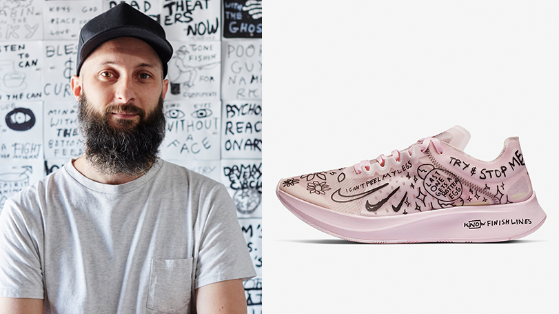 d208a4799fa6e Nike has teamed up with Los Angeles based artist and designer Nathan Bell  to release the Nike Running collection which consists of eight pieces.
