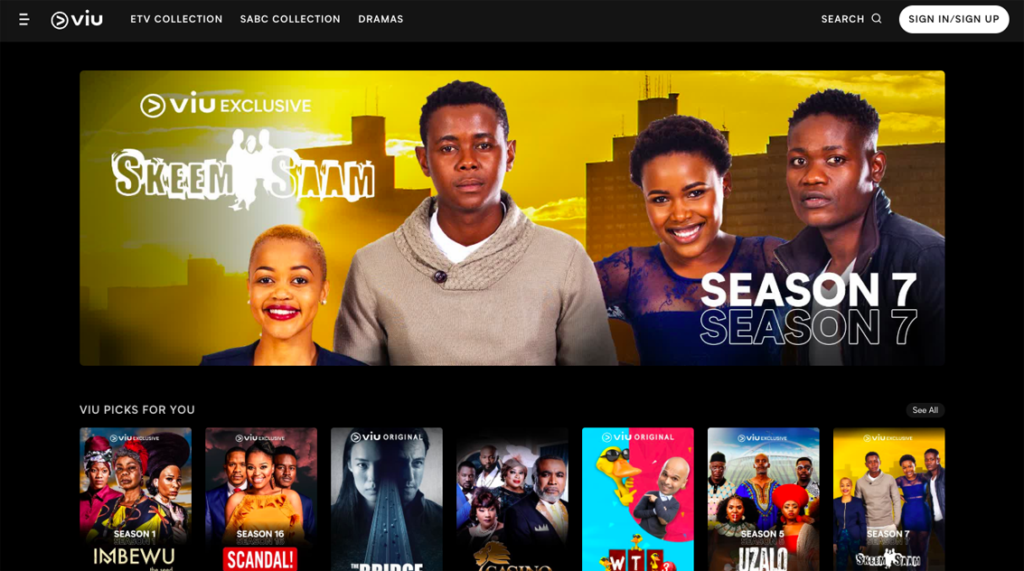 Viu' streaming service launches in South Africa, with Uzalo