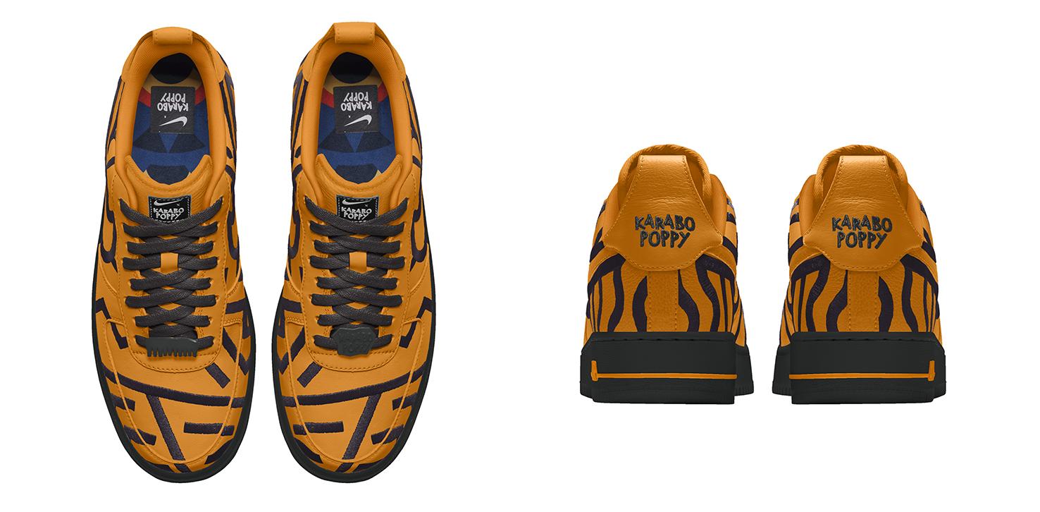 Catástrofe Ingresos Permanente  Karabo Poppy x Nike By You Air Force 1 | YOMZANSI