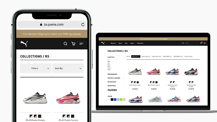 PUMA South Africa launches online store