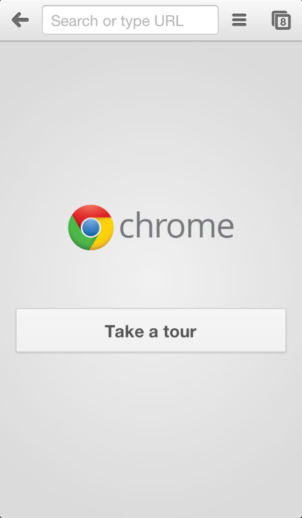Chrome iPhone App's navigation handler is in the right