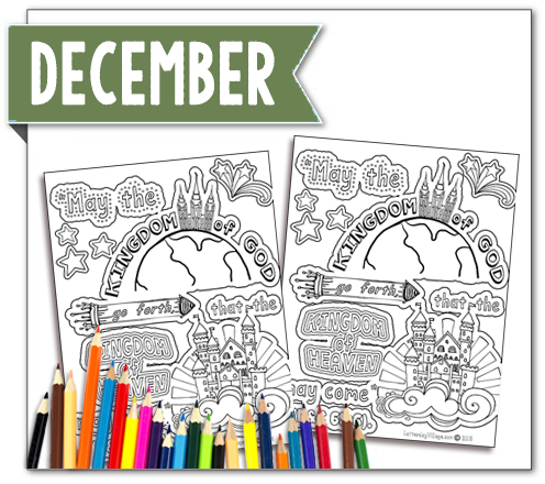 Come Follow Me December Scripture Coloring Page