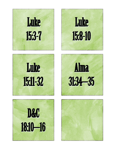 YW Scripture cards December