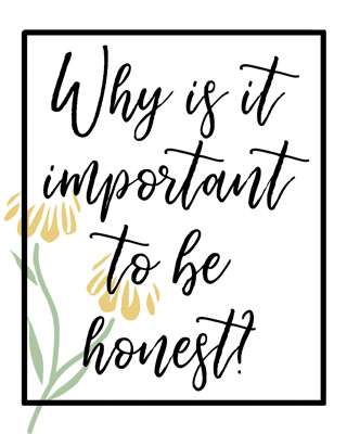 Young women September 2017 why is it important to be honest Lesson poster 1