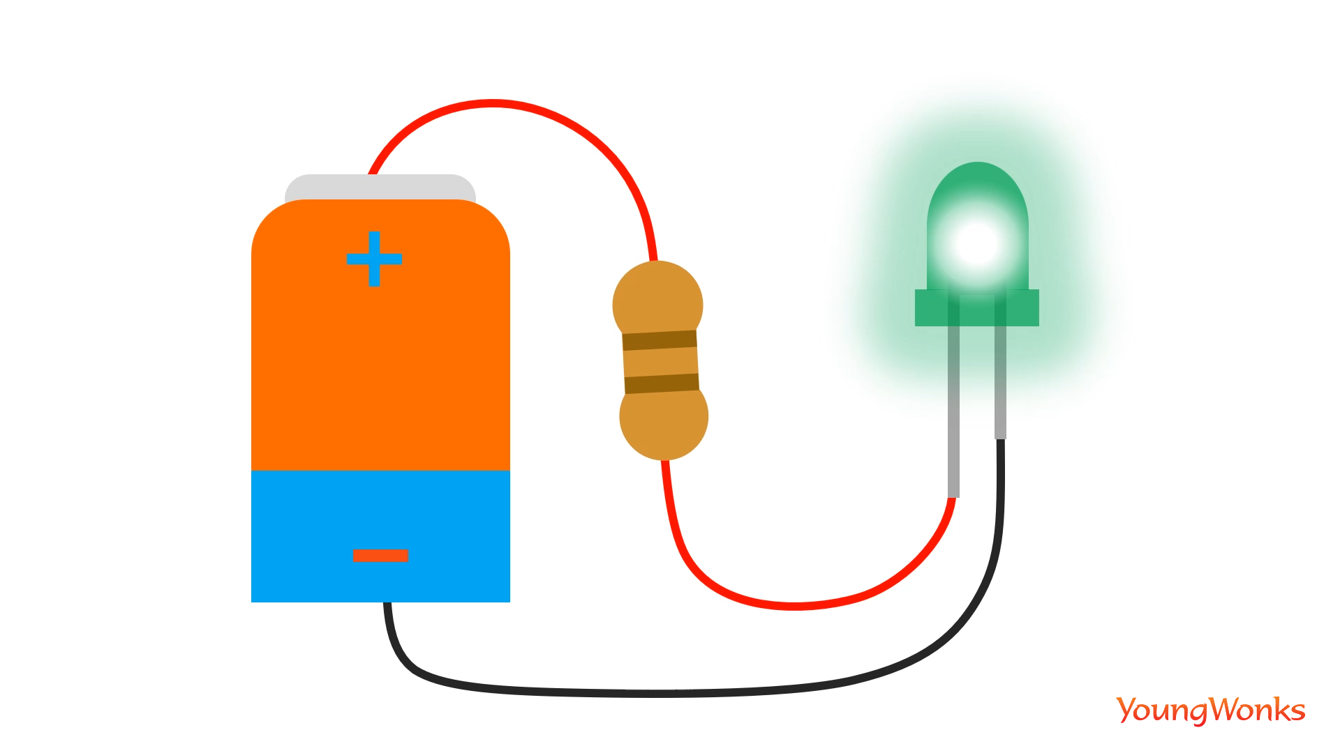 Simply Explained The Flow Of Electricity Led Circuits And Resistors A Resistor Will Act As Valve Sorts Control Amount Flowing Through Circuit So That Get Enough Current To Light