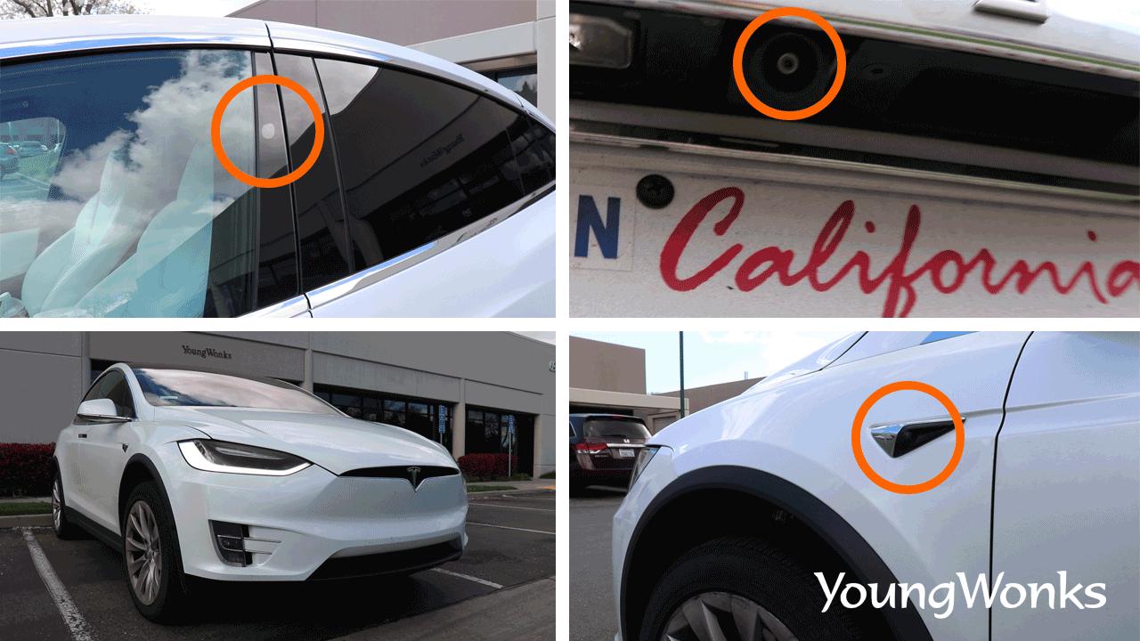 Sensors in a Tesla