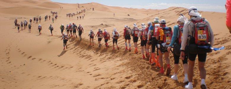 ماراتون الرمال بالمغرب....الرغبة في الفوز وقساوة الصحراء