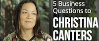 Watch the video with Christina Canters