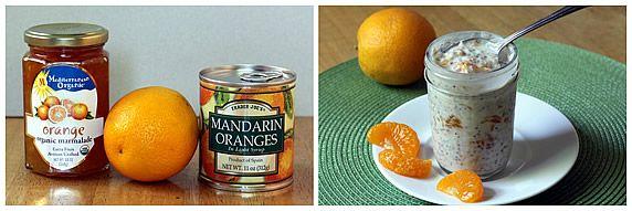 Mandarin Orange Refrigerator Oatmeal