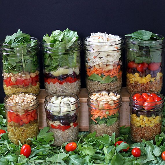 Quinoa Salad In A Jar In 4 International Flavors