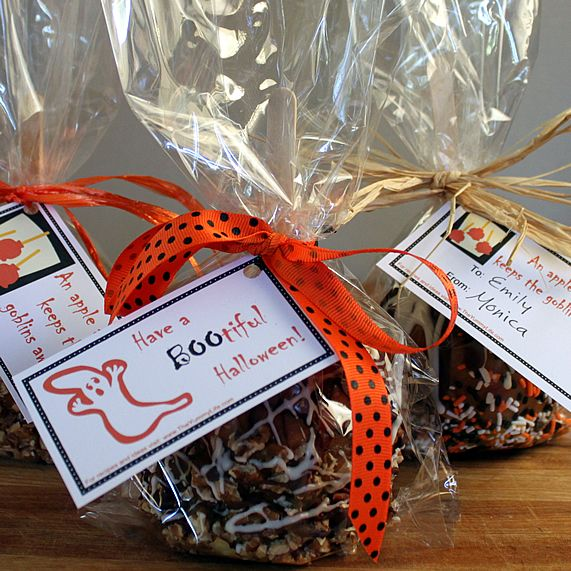 Make Caramel Apple Gift Bags Amp Tags