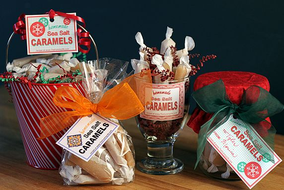 Sea Salt Caramel Gift Ideas & Printable Tags