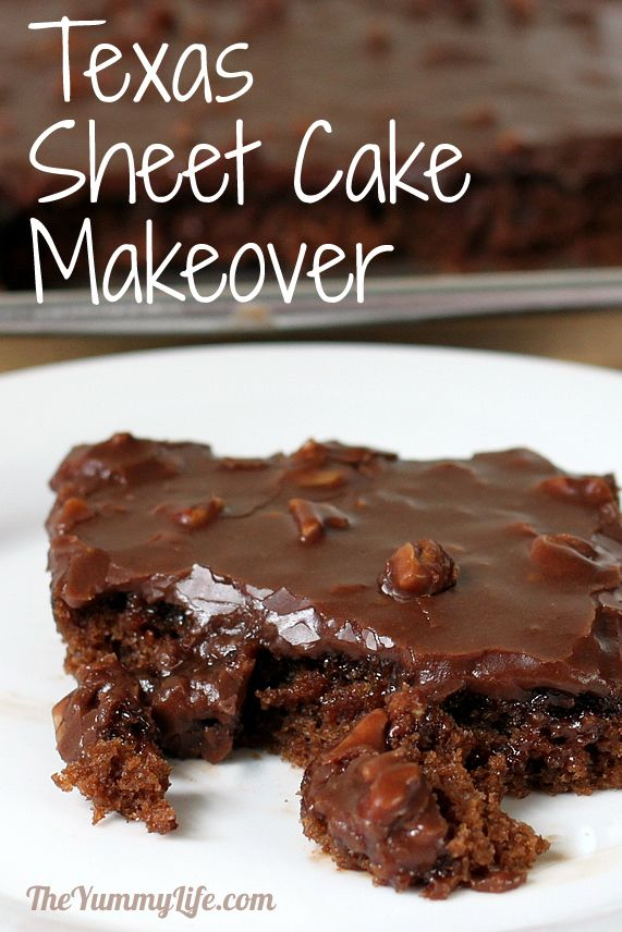 Texas Sheet Cake Makeover