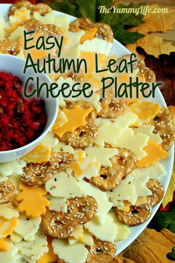 Make An Easy Autumn Leaf Wreath Cheese Platter