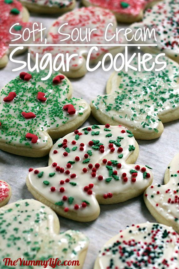 Christmas Cutout Cookies.Cut Out Sour Cream Sugar Cookies