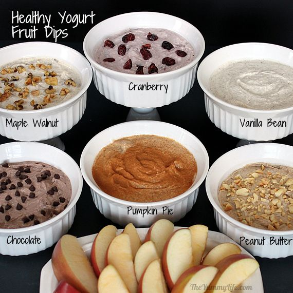 Yogurt Chia Fruit Dips