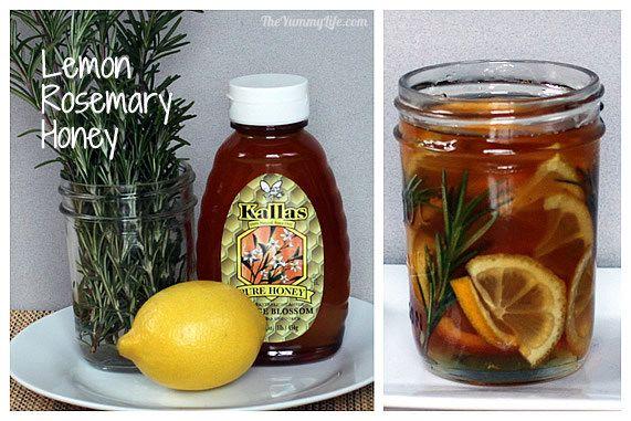 Lemon Rosemary Honey Syrup