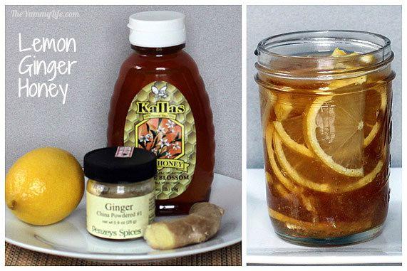 Lemon Ginger Honey Syrup