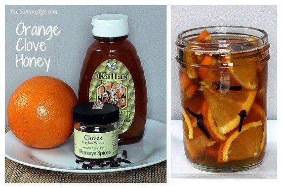 Orange clove honey syrup