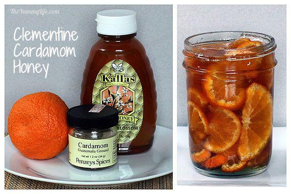 Clementine Cardamom Honey Syrup