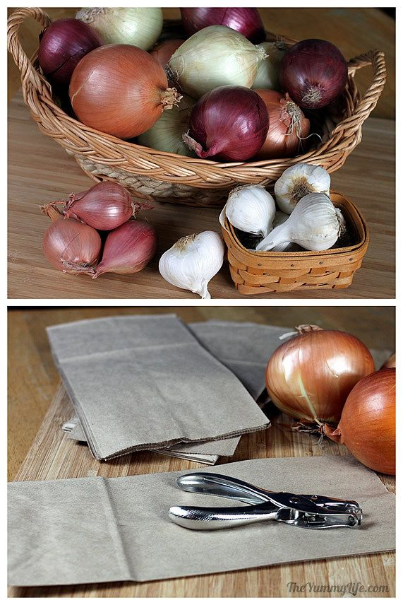 Merveilleux How To Store Onions, Garlic, U0026amp; Shallots. This Easy Method Keeps Them